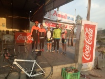 With members of Amritsar Cycling Club